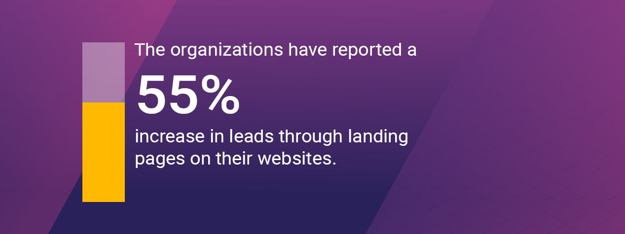 The organizations have reported a 55%